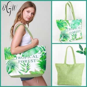 Handbags - 🧜🏼♀️🆕Beautiful Green Tropical Forest Beach Bag